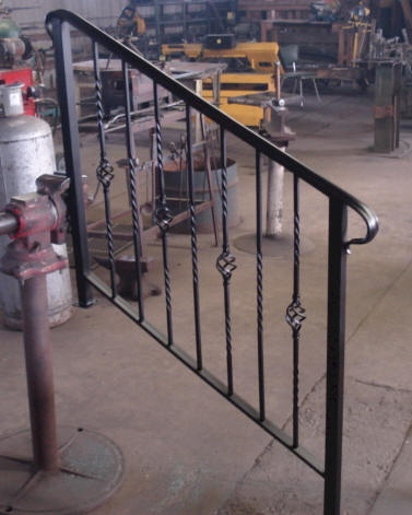 Rekkverk baltic water jet - Exterior wrought iron handrails for steps ...